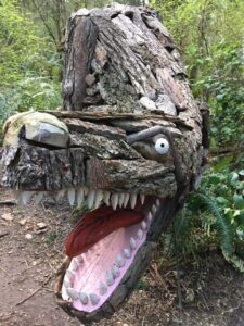 Dragon carved in tree